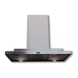 "Cavaliere - Cavaliere-Euro SV218Q-36 36; Wall Mount Range Hood - Mounting Type - Wall Mount. 900 CFM centrifugal blower. Six-speed electronic, touch sensitive control panel with LCD display. Delayed power auto shut off (programmable 1-15 minutes). 30 hours cleaning reminder. Two dimmable 35w halogen lights (GU-10 type light bulbs). Three aluminum 6 layers micro-cell washable grease filters (dishwasher-friendly). Heavy duty 22 gauge stainless steel (brushed finish). Telescopic decorative chimney of variable dimension. 6"" round duct vent exhaust and back draft damper. Venting Mode: Duct (optional re-circulating kit available for ductless). One-year limited factory warranty"