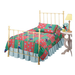 Hillsdale Furniture - Hillsdale Molly Twin Panel Bed in Yellow - Adorable old fashioned kids bed is updated with festive and trendy colors: blue, green, red and yellow. A new spin on an old standard.