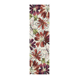 """Nourison - Country & Floral Fantasy Hallway Runner 2'3""""x8' Runner Ivory Area Rug - The Fantasy area rug Collection offers an affordable assortment of Country & Floral stylings. Fantasy features a blend of natural Ivory color. Handmade of 70% Pet   30% Acrylic the Fantasy Collection is an intriguing compliment to any decor."""