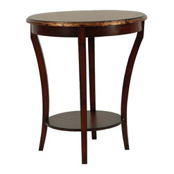 Safavieh Furniture - Harrison Beidermeir Round Side Table in Dark - Made from solid beech wood. Assembly required. 25.5 in. Dia. x 22 in. H (16 lbs.)Elegant side table made by Harrison Beidermeir