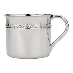 Reed & Barton - Reed & Barton Tara Sterling Silver Baby Cup - An elegant and simple design highlights this child's cup. Sterling silver creates a polished finish on this Reed & Barton mug named after the home to Irish gods in Mythology-Tara.