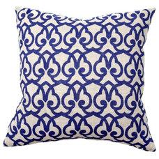 London Print Blue Pillow Pair