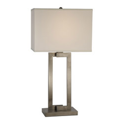 Trend Lighting - Trend Lighting BT7470 Riley 1 Light Table Lamps in Brushed Nickel - Riley Table Lamp