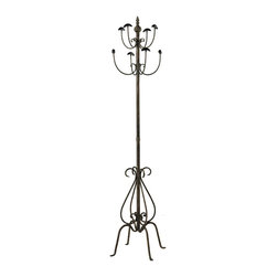 Sterling Industries - Coat Stand In Paso Fundo Bronze - Coat Stand In Paso Fundo Bronze