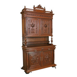 EuroLux Home - Consigned Antique Carved Oak French Henry II - Product Details