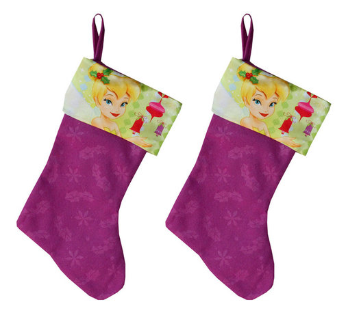 Four Seasons - Disney Tinkerbell Christmas Stocking Set Holiday Decorations - FEATURES: