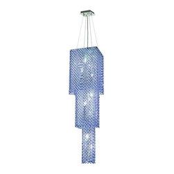 Elegant Lighting - Elegant Lighting 1299G63C-SA Moda 9-Light, Three-Tier Crystal Chandelier, Finish - Elegant Lighting 1299G63C-SA Moda 9-Light, Three-Tier Crystal Chandelier, Finished in Chrome with Sapphire Blue CrystalsElegant Lighting 1299G63C-SA Features: