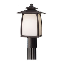 Murray Feiss - Murray Feiss Wright House Transitional Outdoor Post Lantern Light X-BRO7058LO - Murray Feiss Wright House Transitional Outdoor Post Lantern Light X-BRO7058LO