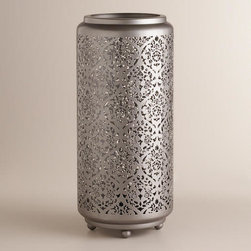 Punched Metal Baroque Cylinder Lamp -