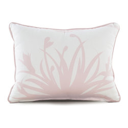 """Oilo - 13"""" x 17 """" Freesia Pillow, Blush - Manufactured from 100% woven cotton and encased in a high-quality zippered enclosure, Oilo's dapper collection of eco-friendly, dacron-filled pillows are the secret to spicing up any room. Oilo pillows provide the perfect accent for cribs, gliders, bedding and more."""