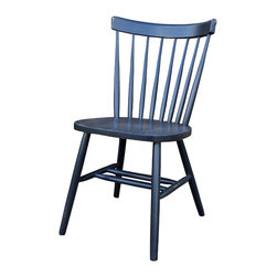 Fable Porch Furniture - Shaker Side Chair, Picket Fence-White - Distressed Shaker Side Chair