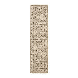 Safavieh - Safavieh Cambridge Transitional Hand Tufted Wool Rug X-012-A232MAC - Decorate your home with the Safavieh Cambridge Welsh Rug. This eye-catching rug features a special high-low construction that adds depth and unusual detailing. The stunning colors are sure to impress.