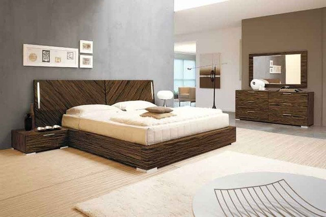 Modern Beds Webb Ebony Bed by Doimo