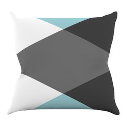 """Kess InHouse - Suzanne Carter """"Diamonds"""" Gray Blue Throw Pillow (16"""" x 16"""") - Rest among the art you love. Transform your hang out room into a hip gallery, that's also comfortable. With this pillow you can create an environment that reflects your unique style. It's amazing what a throw pillow can do to complete a room. (Kess InHouse is not responsible for pillow fighting that may occur as the result of creative stimulation)."""