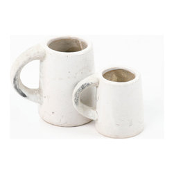 Zentique - Cup, Small - This cup features a pulled handle made of granular clay. For decorative purposes only.