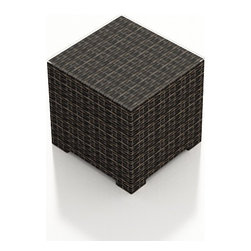 Forever Patio - Capistrano Modern Outdoor End Table, Mocha Wicker - The Forever Patio Capistrano Modern Patio Rattan End Table (SKU FP-CAP-ET-MC) brings that extra touch of luxury to the Capistrano sectionals and chairs. The mocha resin wicker is UV-protected and features dual tones that give it a more natural look, suiting a wide range of outdoor decor schemes. A glass top is optionally available for this end table.