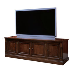 """Hooker Furniture - Entertainment Hutch 367 - White glove, in-home delivery included!  Hutch only.  Console sold separately.  Six adjustable shelves, three lights controlled by three-intensity touch switch, stained top.  Back panel in TV area can be moved forward to hang a plasma TV on, moved back or removed for DLP/LCD TV's.  TV opening: 53 3/4"""" w x 38 1/2"""" h  Overall TV area depth with back in furthest position: 20 1/2"""", 9 1/2"""" inside hutch.  ACCOMODATES MOST 50"""" PLASMA, DLP AND LCD MONITORS.  PLEASE MEASURE THE TELEVISION YOU ARE PURCHASING OR OWN AS TV MANUFACTURERS CHANGE SIZES EVERY MODEL YEAR.  Interior Top Opening: 17 1/2"""" w x 11 3/8"""" d x 14 3/4"""" h  Left and Right Side Opening: 11 3/16"""" w x 11 1/2"""" d x 52 3/4"""" h"""