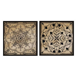 Paragon - Intricate Detail II PK/2 - Framed Art - Each product is custom made upon order so there might be small variations from the picture displayed. No two pieces are exactly alike.