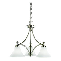 Kichler Lighting - Kichler Lighting - 3821NI - Wharton - Three Light Chandelier - Not quite contemporary, not fully traditional - this collection envelops Edith Wharton's principles of design.