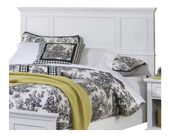 Home Styles - Home Styles Naples Queen Panel Headboard in White Finish - Home Styles - Headboards - 5530501 - The Naples Collection by Home Styles Furniture offers simple yet functional pieces for your home. It features a classic white finish that can blend in with any decor and bracket bases for that added contemporary charm. The Home Styles Furniture Naples Collection appears to be simple in design, but it is in the details that give it an exquisite appeal.