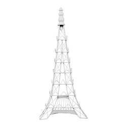 Enchante Accessories Inc - Eiffel Tower Metal / Photo Display / Photo holder (Shabby White) - Metal Eiffel Tower wall decor photo display