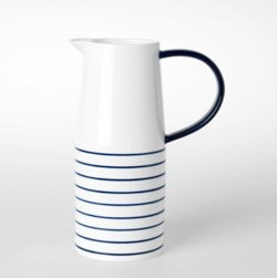 Cobalt Jug with Handle - Since I'm on a stripe kick, can I talk about how handsome this is? Iced teas are awaiting.