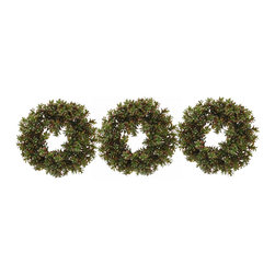 Jane Seymour Botanicals - Jane Seymour Botanicals Succulent Wreath, Set of 3 - Succulent wreath trio. Set of 3 wreaths, each one is 14 inch diameter. Arrange them horizontally, vertically...put them individually in different parts of your house...here's your chance to get creative!