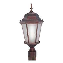 Livex Lighting - Livex Limited Energy Saving CF Outdoor Lanterns Outdoor Post Mount Weathered - Livex products are highly detailed and meticulously finished by some of the best craftsmen in the business