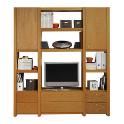 Temahome - Atlas Composition Shu13 - The atlas system is one of the most customizable solutions in the market. With its several accessories, you can adapt the shelves to meet your specific needs. From TV shelves to China cabinets, the array of configurations is limited only to your imagination.