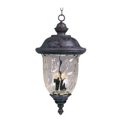 Maxim Lighting - Maxim Carriage House DC 3-Light Outdoor Hanging Lantern Bronze - 3427WGOB - Carriage House DC is a traditional, early American style collection from Maxim Lighting Interior in Oriental Bronze finish with Water Glass.