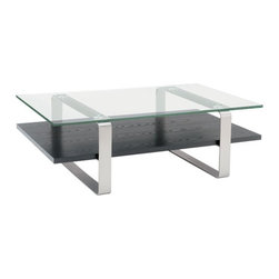 BDI - BDI Stream Wide Coffee Table - The dual surface Stream Wide Coffee Table by BDI combines 3 materials to achieve its modern and sculptural look. Great for the modern home or office.