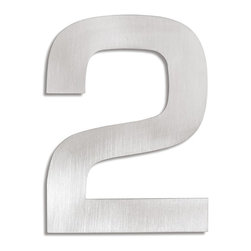 "Blomus - Signo Stainless Steel House Number - 2 - Let everyone know where your house is with these stainless steel address markers. Easy to mount with simple instructions included. Brushed matte finish.Each House Number stands off from wall by 0.5"" inches.Height Each: 6"" inchesWidth Each: 5"" inches(The number #1 digit house number measures 3.5"" inches width at widest point, 1"" inch leg.)"