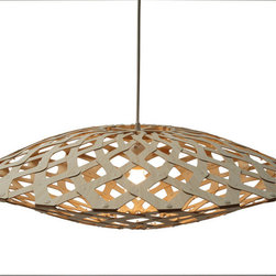 David Trubridge - David Trubridge Flax 800 Pendant Lamp - This fascinating lamp is simply a showstopper. From the side, it evokes the feel of a futuristic spacecraft, while gazing underneath — a swirling whirlpool effect, full of eye-catching illusion.