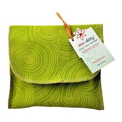 Eco Ditty Sandwich Bag - Let It Grow Green - eco ditty is the perfect sandwich bag. Made from 100% organic cotton they are easily adjustable to handle all types of sandwiches.