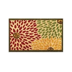 Festivo Doormat - This doormat is teeming with great colors and interesting design. I love the convergence of the different colored flowers to create an abstract bright welcome.