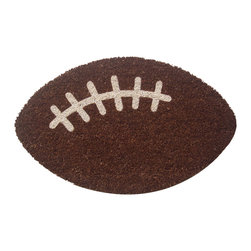 Entryways - Football Nonslip Coir Doormat - This beautifully designed doormat will enhance your entry way or patio. It's made from the highest quality all natural coconut fiber with a PVC non slip backing.