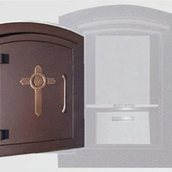 Qualarc, Inc. - Manchester with Secruity Option, Decorative Cross, Antique Copper - Manchester with Secruity Option, Decorative Cross, Antique Copper