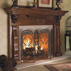 Cambridge Wood Fireplace Mantel - The Cambridge wood fireplace mantel brings visions of a stately manor to mind with its bold hand-crafted styling. Bring the rich textures of this mantel to your great room, den or library in the wood and finish of your choosing. - Mantels Direct