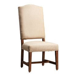 Habitat Home & Garden - Bristol Dining Chair - The Bristol Dining Chair features a solid, birch wood frame and natural finish oak legs.  It is upholstered in a sturdy, cotton fabric and his chair will compliment many homes and styles.