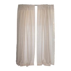 """Uchit - Uchit™ Handcrafted Linen Curtain Panel in Cafe, 48"""" X 96"""" - Envelope your windows in these beautiful linen curtains. Handwoven on a traditional wooden loom by an artisan in India. Made of 100% linen. Unlined. More substantial in weight than our airy linen curtains. Large rod pockets."""