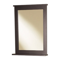 "Magick Woods 30""H x 22""W Stayton Espresso Rectangular Bath Mirror - *   Decorative framed mirror"