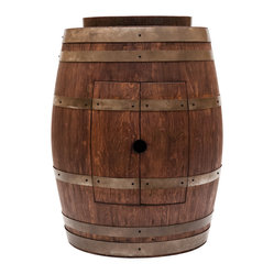 "Barrel Vanity w/ 17"" Vessel Sink - Whiskey"