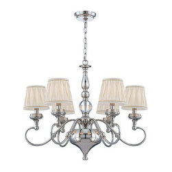 World Imports - World Imports WI25764 Sophia 6 Light 1 Tier Chandelier - Features: