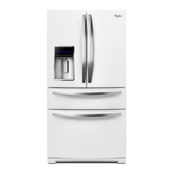 """Whirlpool - WRX988SIBH 36""""  Ice Collection  28.1 cu. ft. French Door Refrigerator  Double Fr - When it comes to refrigerators you want fullproof food preservation While most brands can keep food fresh Whirlpool brand takes it further by offering refrigerators that work with your lifestyle You want ample and easily accessible storage space incl..."""