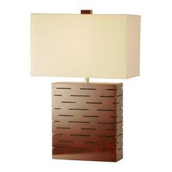 Nova Lighting - Nova Lighting 1210043M Rift Reclining Table Lamp - Nova Lighting 1210043M Rift  Reclining Table Lamp