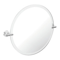 Moen - Moen Iso Round Mirror Pivoting Brackets, Chrome (DN0792CH) - Moen DN0792CH Iso Round Mirror Pivoting Brackets, Chrome