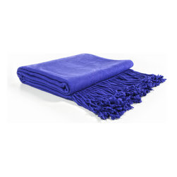 "Pur by Pur Cashmere - Signature Blend Throw Morning Glory 50""x65"" With 6"" Fringe - Bamboo velvet throw. 100%  bamboo.  Dry clean only. Inner mongolia."