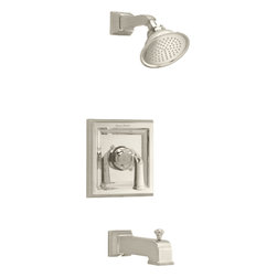 """American Standard - American Standard T555.522.224 Town Square Bath/Shower Trim, Oil Rubbed Bronze - American Standard T555.522.224 Standrad T555522 Town Square Bath/Shower Trim Kit, Oil Rubbed Bronze. This Bath and Shower Trim Kit features volume and temperature control valve bodies, a single metal lever handle, cast brass shower arm, metal slip-on diverter tub spout, and a 4 1/2"""" rain showerhead"""