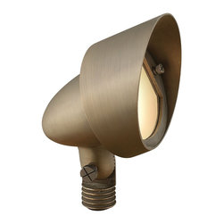 Hinkley Lighting - Hinkley Lighting 16574MZ Hardy Island Large Wall Wash Cast Brass Flood Lights - This heavy duty SOLID CAST BRASS COLLECTIONis a striking collaboration of form and function. Namedfor the ruggedly beautiful island off the coast of BritishColumbia that bears its name, Hardy Island™ is designed to withstand the harshest environments in style. HardyIsland™ offers fully enclosed lamps, features a weathered brass finish that will mature naturally over time and isbacked by an extended warranty.A wiring kit and ground spike is supplied with all low voltage lighting.