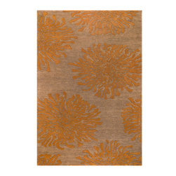"""Surya - Surya Bombay BST-495 (Sand Brown Burnt Orange) 2'6"""" x 8' Rug - Ranging from transitional to traditional and contemporary, the Bombay collection features a series of versatile designs to complement any decor. Hand-tufted in India, each rug is produced from finest hand-spun and twisted New Zealand yarn to provide special texture."""